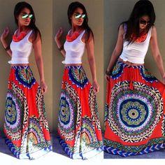 Sexy Womens Summer Boho Long Maxi Evening Party Dress Beach Waist Skirt Sundress #Unbranded #Maxi #SummerBeach