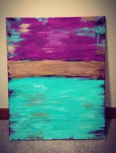 Acrylic canvas painting by RaeTeeArt on Etsy, $45.00