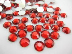 LOVEKITTY - Red - 1000pc 4mm Flat Back High Quality Rhinestones Round 14 Cut 4mm (16ss) -- by lovekitty >>> Continue to the item at the image link.
