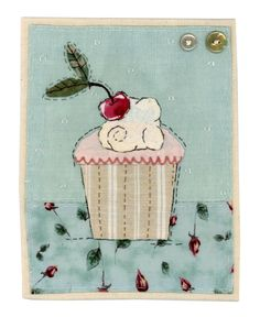 Sharon Blackman: Chelsea & the rest. Freehand Machine Embroidery, Free Motion Embroidery, Free Machine Embroidery, Hand Applique, Applique Patterns, Embroidery Applique, Fabric Cards, Fabric Postcards, Small Quilts