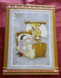 Get Well or birthday card using a Hunkdory cute hedgehog topper from the Patchwork Forest topper pad