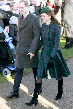December 25, 2013  Prince William & Kate arrive for the Christmas Day service in King's Lynn, England.