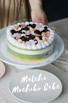 Who wants a slice of this heavenly matcha mochi cake? Mochi Cake, Matcha Tea Powder, Traditional Bowls, Organic Matcha, Yummy Cakes, Heavenly, Food And Drink, Stuffed Peppers