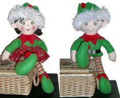 Girl & Boy Elf Dolls
