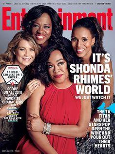 Shondaland EW cover: Shonda Rhimes, Ellen Pompeo, Kerry Washington & Viola Davis