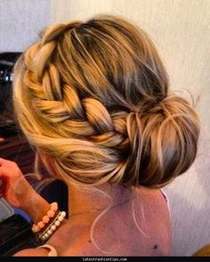 cute braided bun hairstyles for short hair - Hollywood Official Ltf