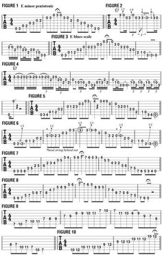 Adding the Major Third to Minor Pentatonic and Blues Scale Phrases - Guitar World. Para treinar e ficar craque. Classical Guitar Lessons, Blues Guitar Lessons, Electric Guitar Lessons, Guitar Lessons For Beginners, Guitar Chords Beginner, Learn Guitar Chords, Music Chords, Ukulele, Music Music