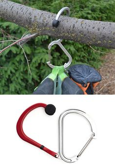 Qlipter - The Qlipter is a new kind of carabiner that does more than just clip your water bottle to your backpack. The design features a hinged hook you can pop out to hang your stuff just about anywhere.