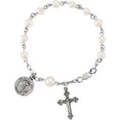Sterling Silver Rosary Bracelet | 4.99 Grams | Jewelry Series: R41909