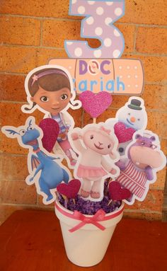 Doc McStuffins Inspired Centerpiece by DesignsByKerriB on Etsy