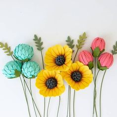 Succulent Wreath Wedding Diy Paper Ideas For 2019 Paper Flowers Diy, Felt Flowers, Flower Crafts, Diy Paper, Fabric Flowers, Felt Flower Diy, Paper Art, Felt Crafts Diy, Felt Diy