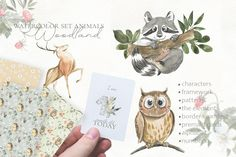 Alphabet And Numbers, Child Life, Watercolor Animals, Abstract Photos, Woodland Animals, Children, Pattern, Cards, Character