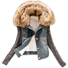 Partiss Damen Pelz Kragen Fleece Jeans Strick Winterjacke... https://www.amazon.de/dp/B0167XKL3Y/ref=cm_sw_r_pi_dp_x_TtxQxbEW6391C