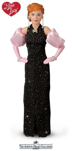 """Officially licensed Lucy doll plays the I LOVE LUCY theme song and an actual clip from the """"Charm School"""" episode. Poseable, with replica costume."""