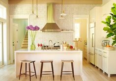 Designing Your Kitchen With Feng Shui In Mind: Rectilinear And Organic Forms Feng Shui Kitchen Design ~ Feng Shui Kitchen, Kitchen Remodel, Kitchen Design, Cute Kitchen, Kitchen Tiles, Kitchen Inspirations, Kitchen Trends, Home Decor, Kitchen Wall Tiles