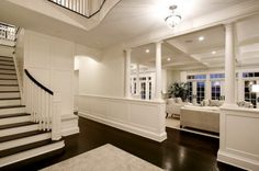 love the floors and all the french doors