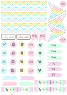 Free printables, pegatinas, imprimibles, agenda, planner, diary