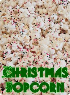 If you're looking for a last minute gift to give neighbors…or a snack to take to a friends house for a party…might I suggest this fabulous…and OH SO EASY…Christmas popcorn. - Click image to find more DIY & Crafts Pinterest pins