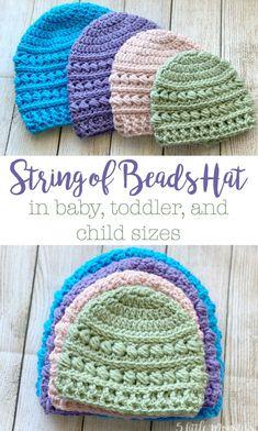 Crochet Toddler Hat, Crochet Baby Hats Free Pattern, Crochet Baby Beanie, Crochet Kids Hats, Crochet Cap, Crochet Baby Clothes, Crocheted Baby Hats, Childrens Crochet Hats, Crochet Patterns