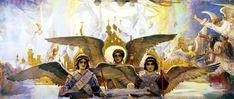 Viktor Vasnetsov. Rejoice in the Lord, O ye Righteous. Panel 2 of ...