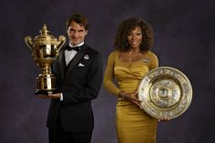 2012 Wimbledon Championships..The Champions: Roger Federer and Serena Williams  - Tom Lovelock/AELTC