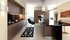 Kitchen Biege Wood Accents