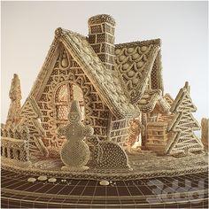 3d модели: Еда и напитки - Пряничный домик