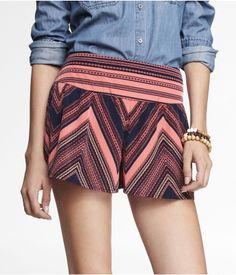 3 INCH PRINTED WIDE WAISTBAND SOFT SHORTS | Express