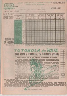 SPORTS And More: #Portugal #Cycling #Ciclismo 1963 #Totobola #Benfi...