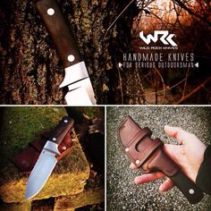 New utility custom knife. D2 blade steel, 416 bolsters and blackwood handle. Proudly handmade.