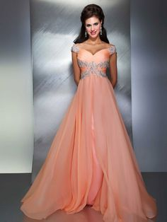 See this dress in action! http://www.youtube.com/watch?v=c7du8O_oRx4  Sizes: 0 - 16 $498  Colors: Aqua & Peach