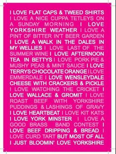 Yorkshire! :-)