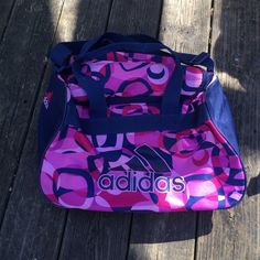 Adidas duffle bag In okay condition only flaws are small spot on top and liner is peeling Adidas Bags Travel Bags