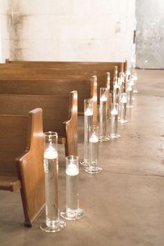 candle lite wedding aisle @weddingchicks