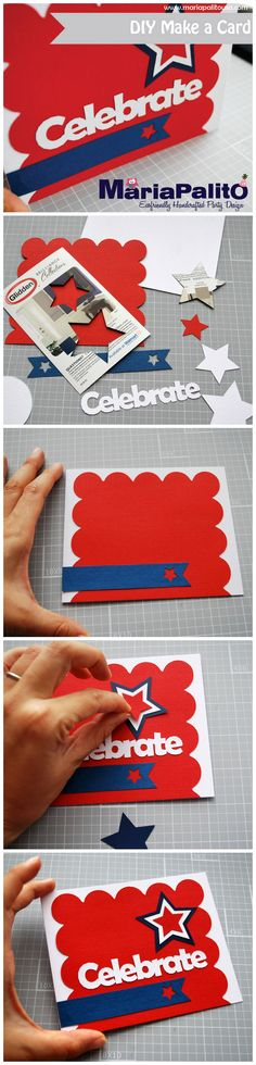 DIY Make a card : Celebrate 4th of July