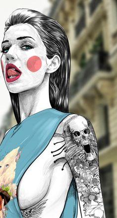 fashion ilustration oh look its miley Art Pop, Art And Illustration, Art Et Design, Creation Art, Drawn Art, Arte Sketchbook, Erotic Art, Art Girl, Character Art