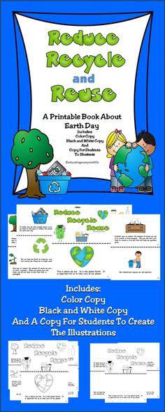 Earth Day Printable Story - A great resource when teaching students about the importance of taking care of the Earth. #ideas