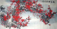 Plum Blossom,69cm x 138cm(27〃 x 54〃),2314005-z