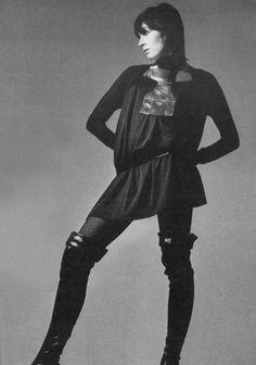 Anjelica Houston by Richard Avedon, Vogue, 1969. from theyroaredvintage