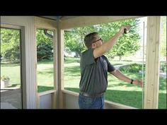 Expanse retractable window screens provide options so you can fully enjoy your screened-in porch. Learn how to measure for retractable window screens and sho. Porch Windows, Buy Windows, Sash Windows, Moana Grandma, Retractable Window Screens, Custom Screen Doors, Invisible Screen, Porch Enclosures, Property Values