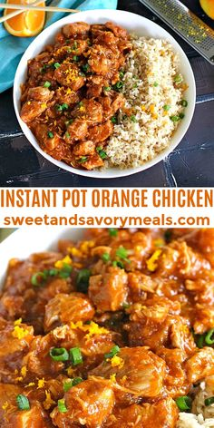 Instant Pot Orange Chicken is healthier than takeout and easy to make using your Instant Pot. #instantpot #orangechicken #chicken #dinner #30minutesmeals Best Instant Pot Recipe, Instant Pot Dinner Recipes, Easy Dinner Recipes, Chicken Instant Pot Recipe, Instant Pot Pressure Cooker, Pressure Cooker Recipes, Easy Orange Chicken, Orange Chicken Crock Pot, Lunch Recipes