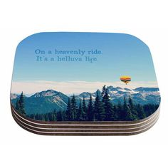 East Urban Home It's a Helluva Life by Robin Dickinson Coaster