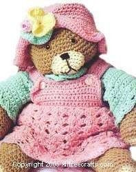 free crochet patterns for teddy bears | Teddy Bear Clothes to Crochet - Free Crochet Pattern for Teddy Bear or ...