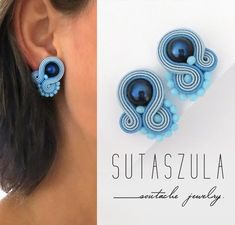 Excited to share the latest addition to my shop: Powder blue earrings, clip on earrings soutache earrings soutache pendientes Seed bead earrings Orecchini soutache studs blue stud earrings Beaded Earrings Patterns, Seed Bead Earrings, Rose Gold Earrings, Diy Earrings, Hoop Earrings, Small Earrings, Soutache Jewelry, Beaded Jewelry, Diamond Jewelry