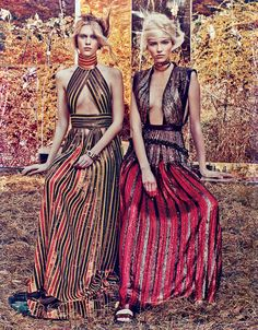 Sasha Luss & Juliana Schurig by Craig Mcdean for W Magazine February 2014