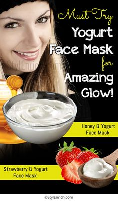 - Yogurt can create magic with your skin giving you a glowing and flawless look. So, just apply yogurt on a face, and get that soft velvety skin similar to several costly treatments at the salons. Best Homemade Face Mask, Diy Face Mask, Homemade Masks, Skin Glow Tips, Yogurt Face Mask, Peel Off Mask, How To Apply, Skin Care, Amazing
