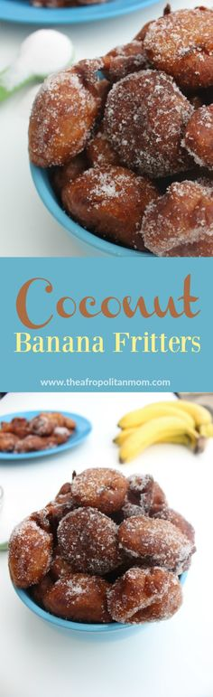 Crisp on the the outside and tender on the inside, these banana fritters are loaded with a nice combination of sweet banana and coconut Ripe Banana Recipe, Banana Coconut, Banana Recipes, Best Easy Dessert Recipes, Easy Desserts, Delicious Desserts, Yummy Treats, South African Desserts, West African Food