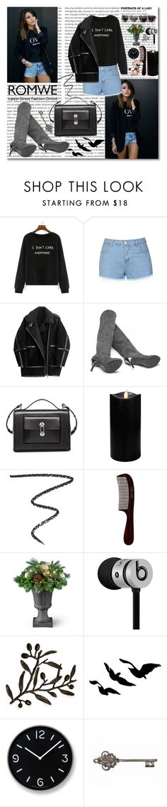 """Romwe"" by rita65 ❤ liked on Polyvore featuring Ally Fashion, H&M, Balenciaga, Boston Warehouse, Kevyn Aucoin, Mason Pearson, Beats by Dr. Dre, Michael Aram, Lemnos and romwe"