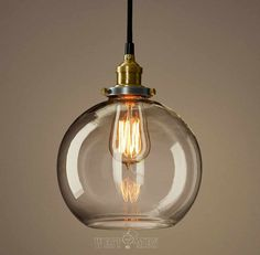 clear glass globe pendan light modern kitchen pendant lighting UL listed copper base hanging ceiling pendant lamp GLOBE on Etsy, £47.89