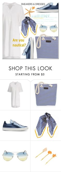 """""""Sporty Chic: Sneakers and Dresses"""" by ansev ❤ liked on Polyvore featuring Jil Sander, Black and SNEAKERSANDDRESSES"""